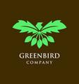 green bird logo vector image vector image