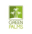 green palms symbol vector image vector image