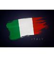 grunge flag italy italian flag brush design vector image vector image