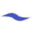 halftone dot wave shape icon vector image vector image