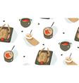 hand drawn abstract modern cartoon cooking vector image vector image
