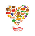 healthy food icons vector image