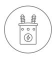 High voltage transformer line icon vector image vector image