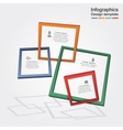 Infographic report template with frames and icons vector image vector image