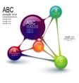 infographics template - molecule vector image