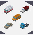 isometric automobile set of truck auto first-aid vector image vector image