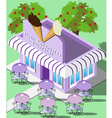 isometric ice cream parlor vector image vector image
