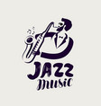 jazz logo or label live music musical festival vector image vector image