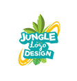jungle logo design inspiration vector image vector image