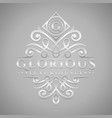 letter g logo - classic luxurious silver vector image vector image