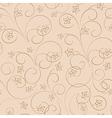 light beige floral background - seamless pattern vector image