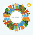 louisville kentucky usa city skyline with color vector image vector image