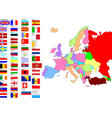 map of europe with country flags vector image vector image