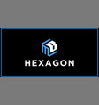 mb hexagon logo design inspiration vector image vector image