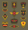 military insignia or army badge american soldier vector image vector image