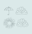monochrome graphic with climate icons set vector image vector image