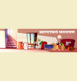 moving things and furniture on new house vector image