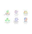 natural medicine logo design collection zen vector image vector image