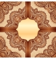 Ornate vintage napkin background vector image vector image