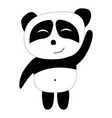 panda in great mood waving his paw to the audience vector image