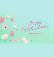 printvalentines day sale background vector image vector image
