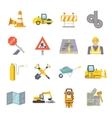 Road Worker Flat Icons Set vector image