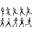 runners collection sketch vector image vector image