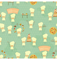 Seamless Food Background with Fun Chefs vector image vector image