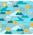 Seamless pattern with seasons and weather vector image vector image