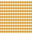 Seamless texture of rhombuses White and orange vector image vector image