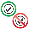 Select permission signs vector image vector image