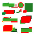 set cute christmas banners on white background vector image vector image