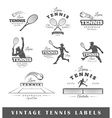 Set of vintage tennis labels vector image