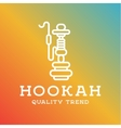 Shisha hookah for tobacco smoking and mixtures vector image vector image