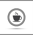 simple round icon of coffee cup vector image vector image