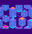 skyscrapers seamless pattern isometric city vector image vector image