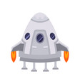 spaceship icon on dark background vector image