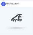 stair truck icon filled flat sign solid vector image vector image