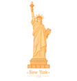 statue liberty cartoon with torch flat design vector image