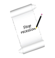 stop recession color vector image vector image