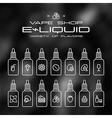 Vape shop e liquid flavors icons