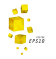 Yellow Cube Background vector image vector image