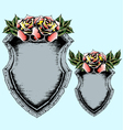 classic antique shield with rose vector image
