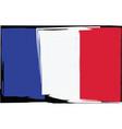 grunge france flag or banner vector image