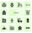 14 urban icons vector image vector image