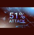 51 percent attack on blockchain stealing vector image