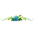 A vine plant border with the earth vector image vector image