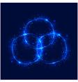 Abstract burning circles vector image vector image