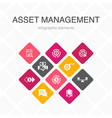 asset management infographic 10 option color
