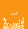 autumn bush leaves and flower background vector image vector image